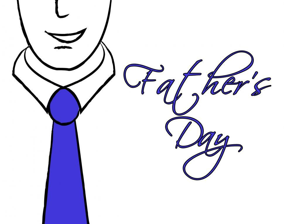 Download Free Stock HD Photo of Fathers Day Tie Shows Fun Parenting And Parties Online
