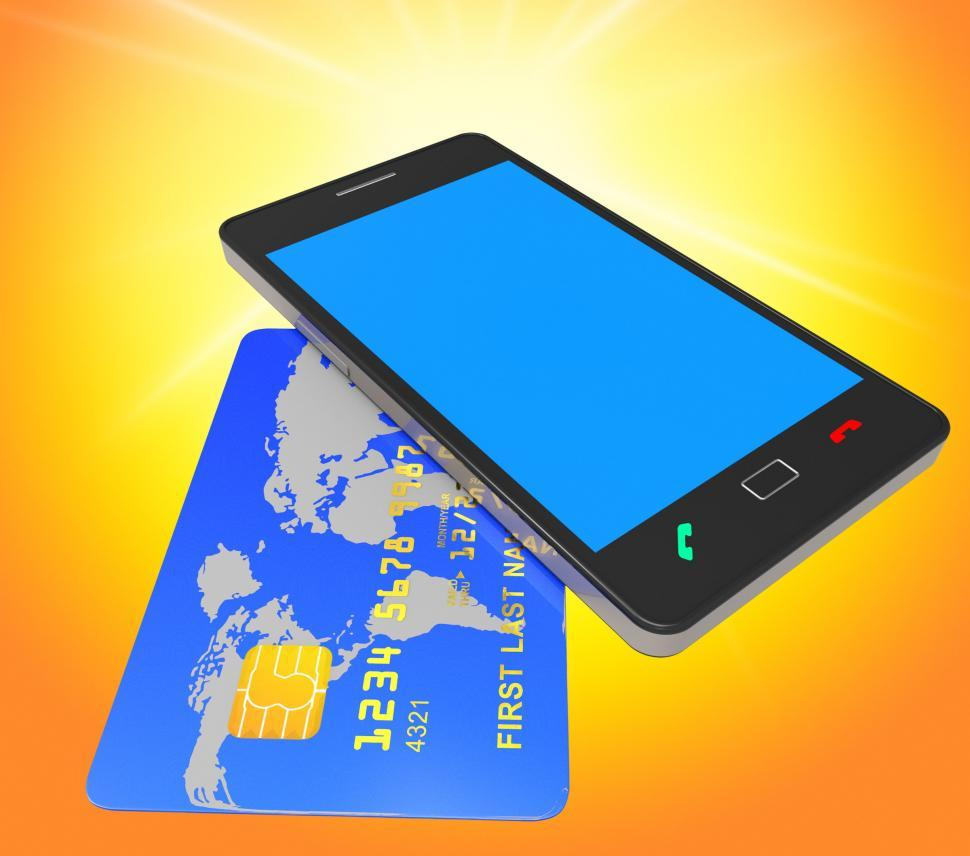 Download Free Stock HD Photo of Credit Card Online Means World Wide Web And Banking Online