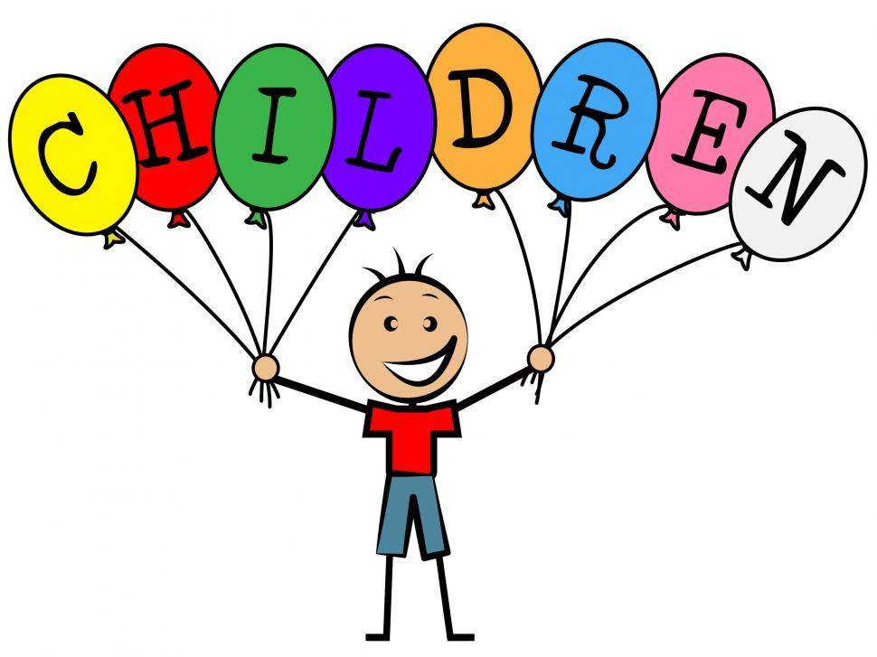 Download Free Stock HD Photo of Children Balloons Indicates Toddlers Kids And Youngsters Online