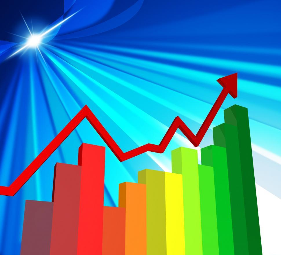 Download Free Stock HD Photo of Business Graph Shows Corporation Commerce And Commercial Online