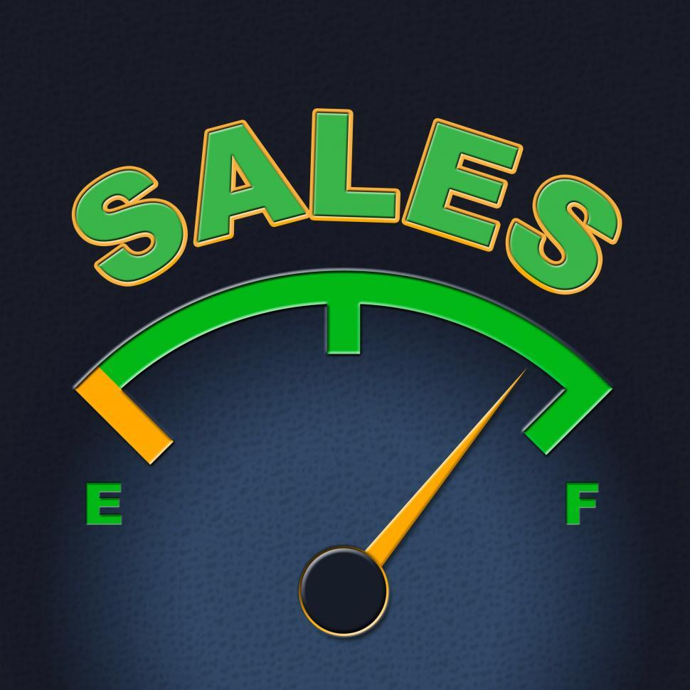 Download Free Stock HD Photo of Sales Gauge Means Promotion Meter And Scale Online