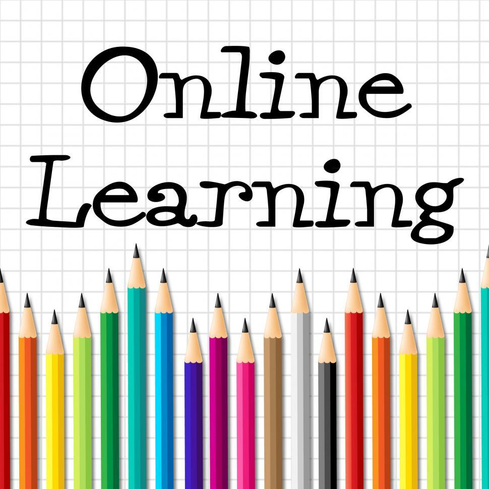 Download Free Stock HD Photo of Online Learning Pencils Represents Web Site And Toddlers Online