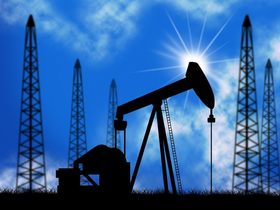 Download Free Stock HD Photo of Oil Wells Means Power Source And Drill Online