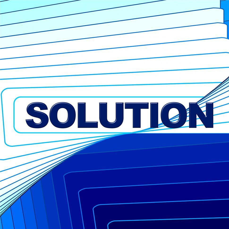 Download Free Stock HD Photo of Solution Word Represents Solve Commercial And Goal Online