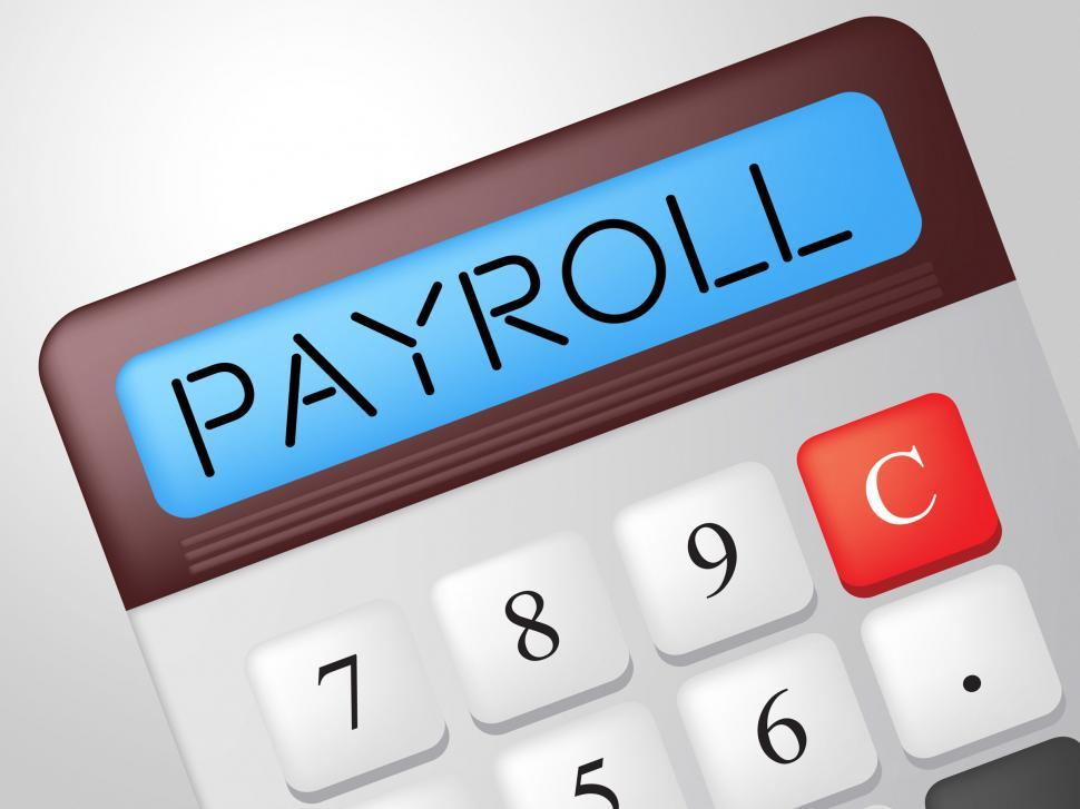 Download Free Stock HD Photo of Payroll Calculator Shows Earns Payday And Salaries Online
