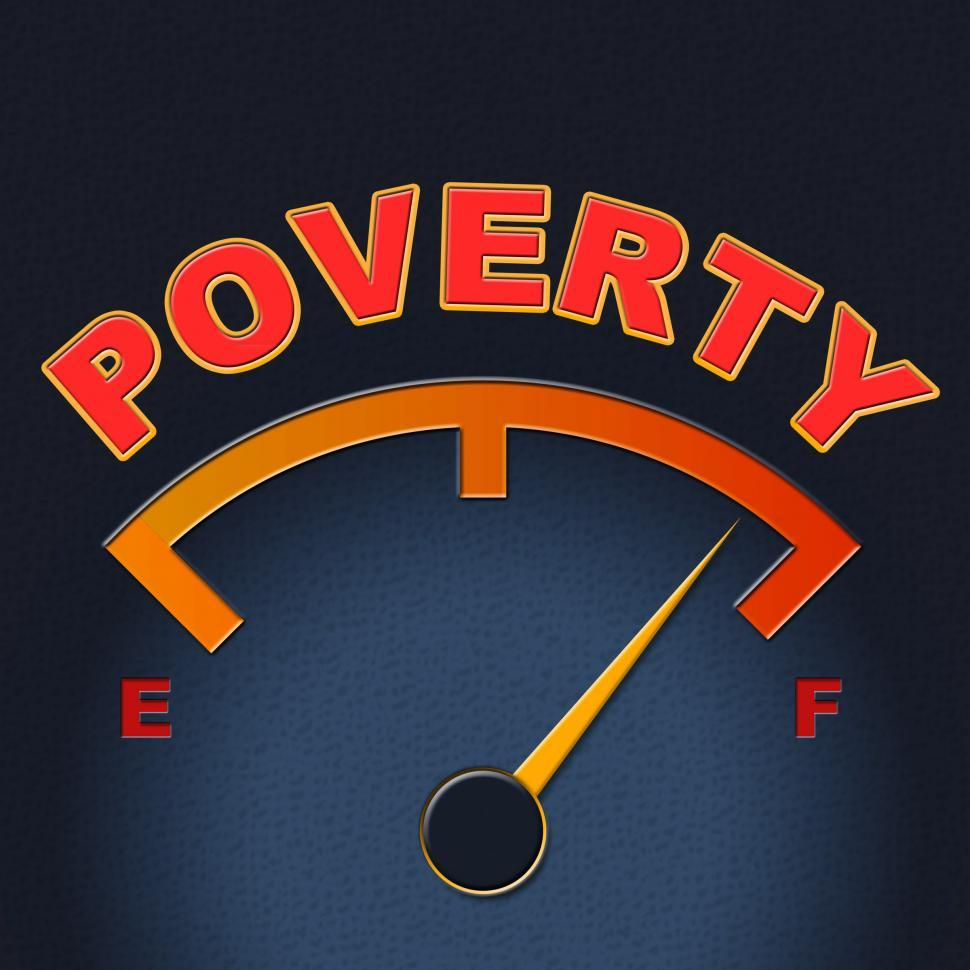 Download Free Stock HD Photo of Poverty Gauge Shows Stop Hunger And Display Online