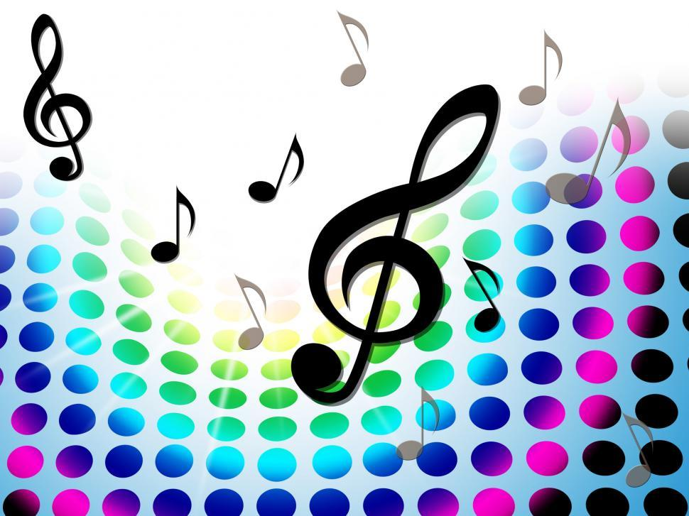 Download Free Stock HD Photo of Music Background Shows Treble Clef And Composer Online