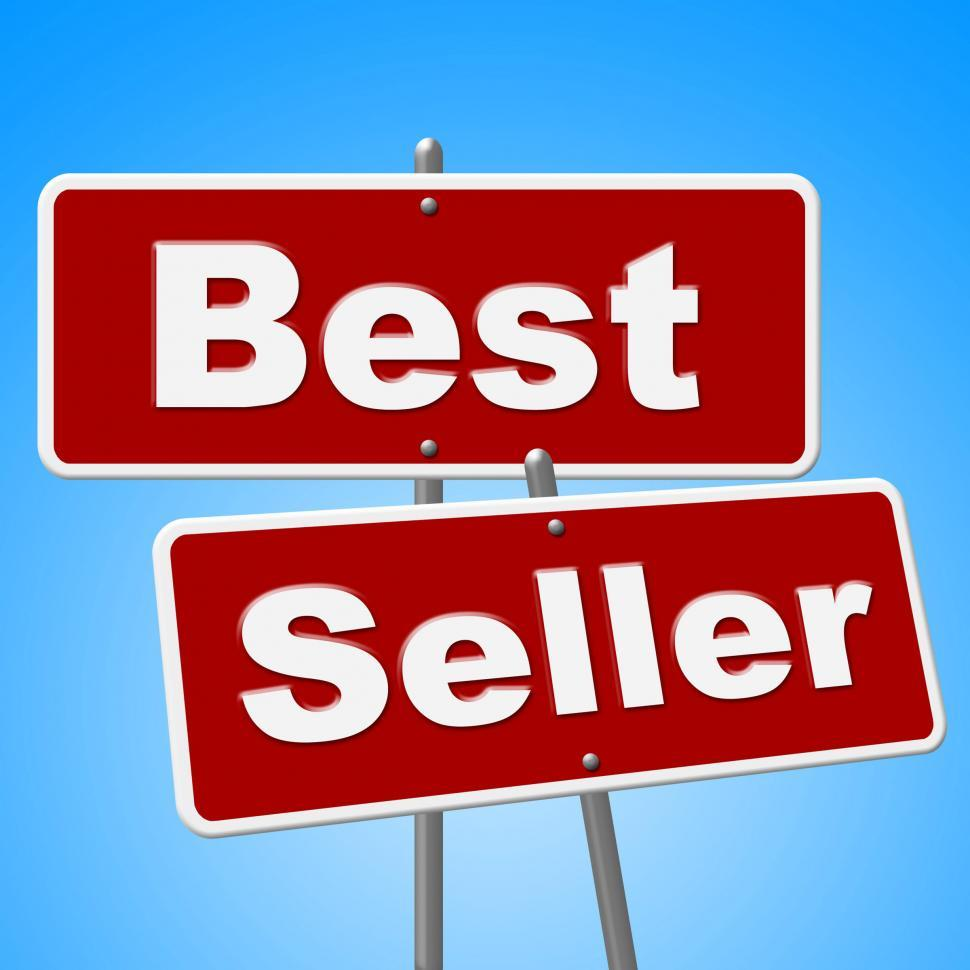 Download Free Stock HD Photo of Best Seller Signs Means Vending Rated And Sold Online