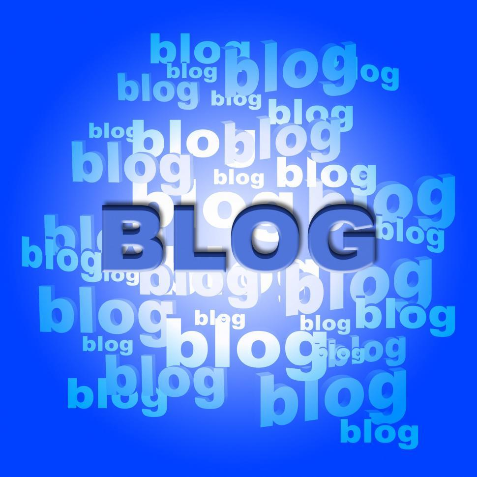 Download Free Stock HD Photo of Blog Words Means World Wide Web And Blogger Online