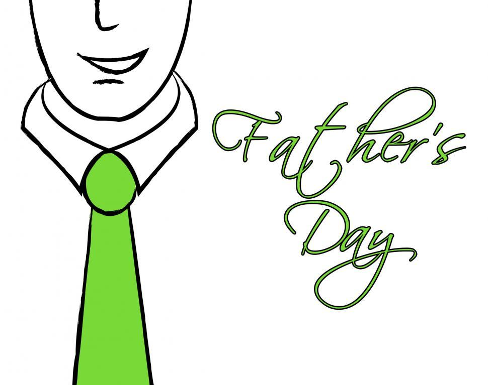 Download Free Stock HD Photo of Fathers Day Tie Means Greeting Cheerful And Parenting Online