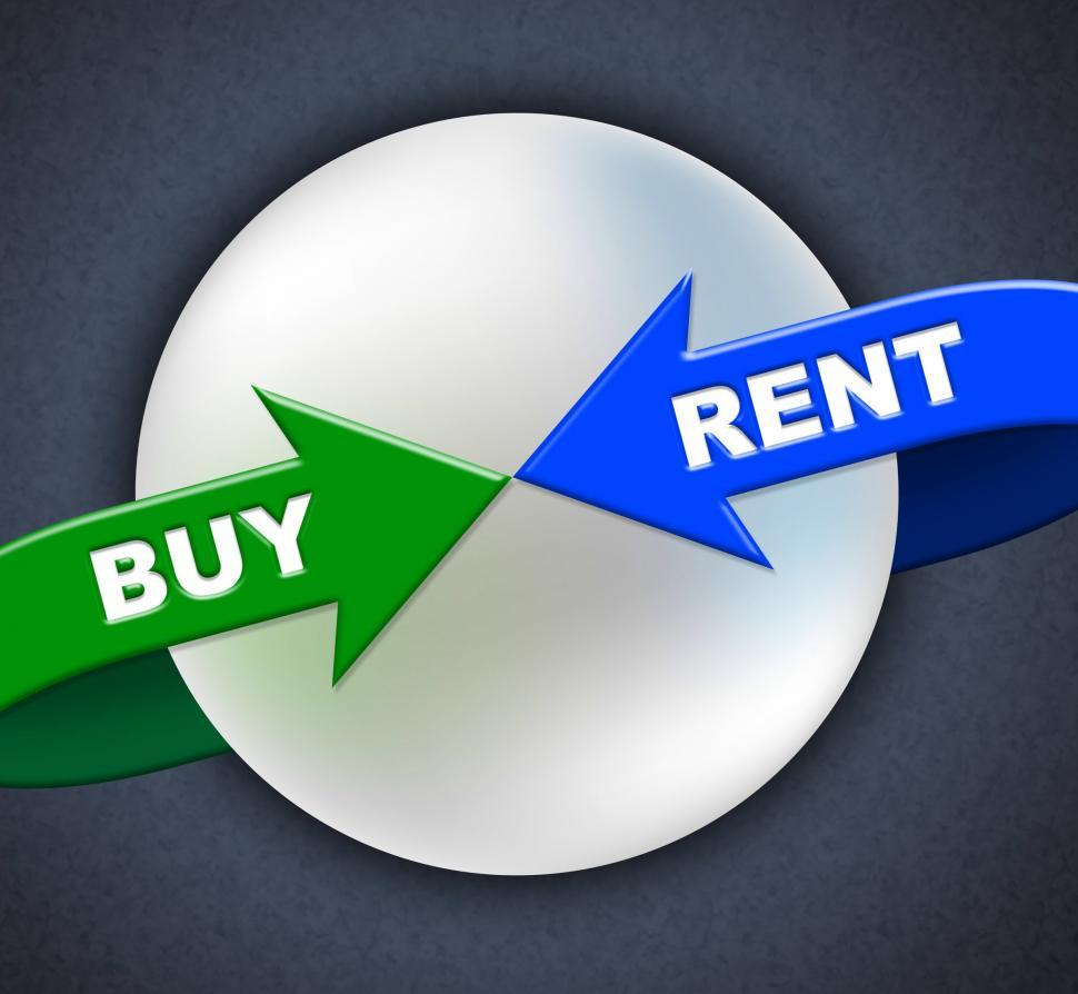 Download Free Stock HD Photo of Buy Rent Arrows Indicates Lease Buyer And Purchase Online