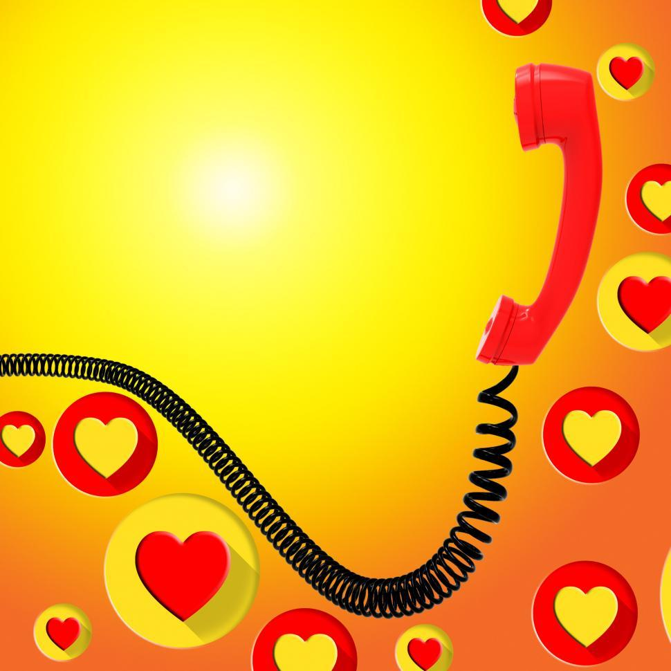 Download Free Stock HD Photo of Romantic Call Represents Find Love And Blank Online
