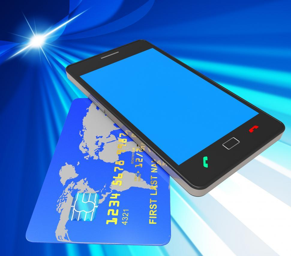 Download Free Stock HD Photo of Credit Card Online Represents Web Site And Bankcard Online