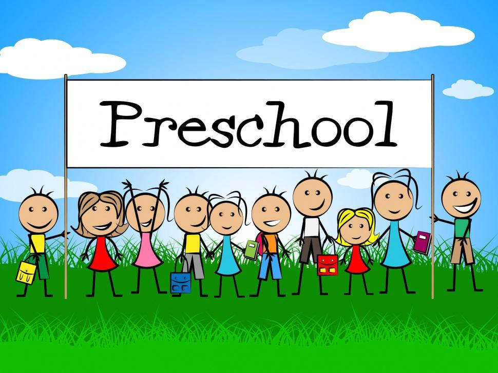 Download Free Stock HD Photo of Preschool Kids Banner Represents Day Care And Child Online