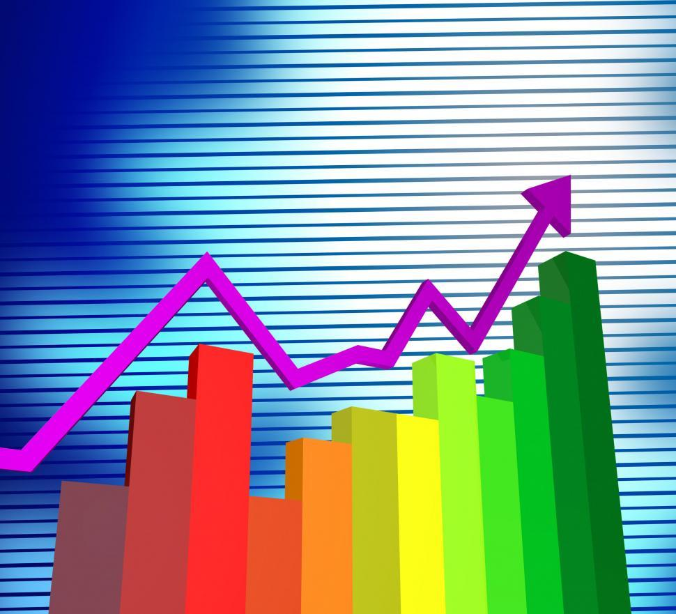 Download Free Stock HD Photo of Business Graph Shows Corporate Trade And Graphs Online