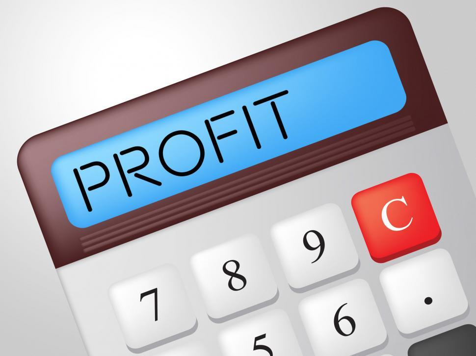 Download Free Stock HD Photo of Profit Calculator Shows Lucrative Growth And Earn Online