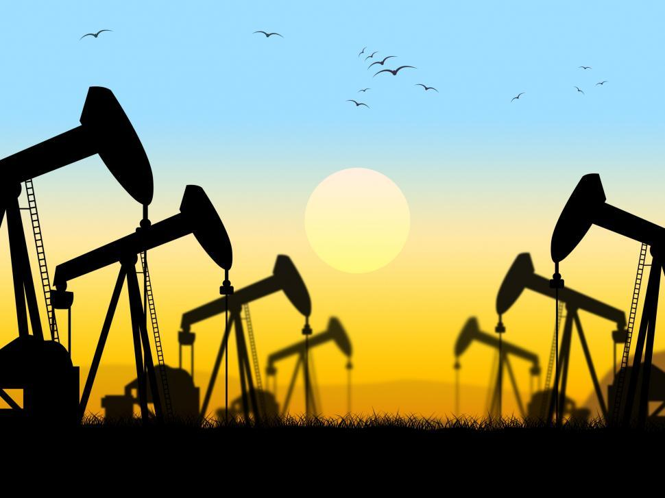 Download Free Stock HD Photo of Oil Wells Shows Nonrenewable Fuel And Exploration Online