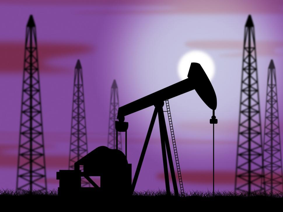 Download Free Stock HD Photo of Oil Wells Means Power Source And Drilling Online