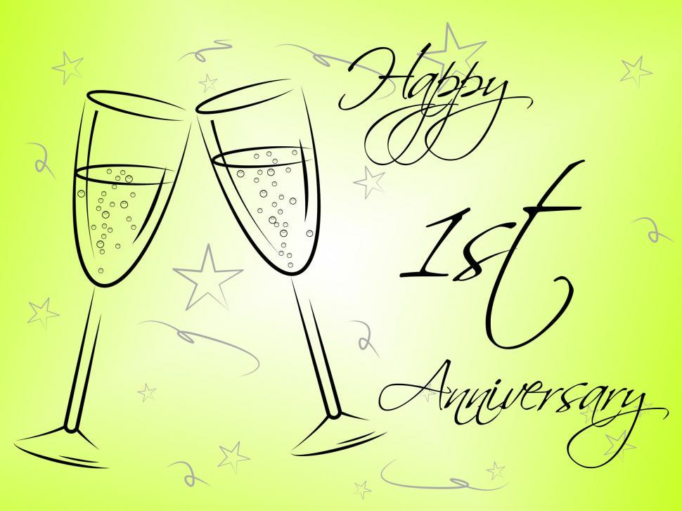 Get Free Stock Photos Of Happy First Anniversary Indicates