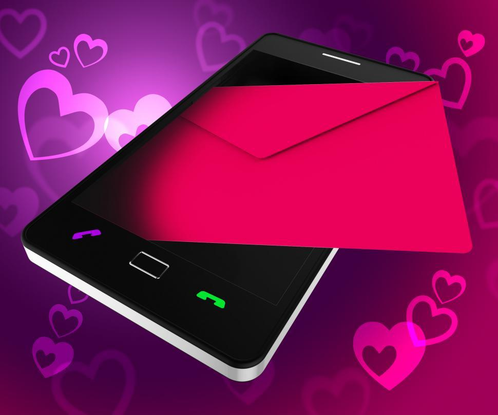 Download Free Stock HD Photo of Send Love Phone Shows Devotion Cellphone And Smartphone Online