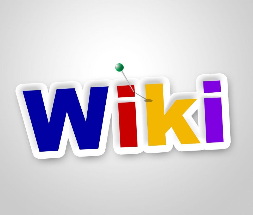 Download Free Stock HD Photo of Wiki Sign Shows World Wide Web And Advisor Online