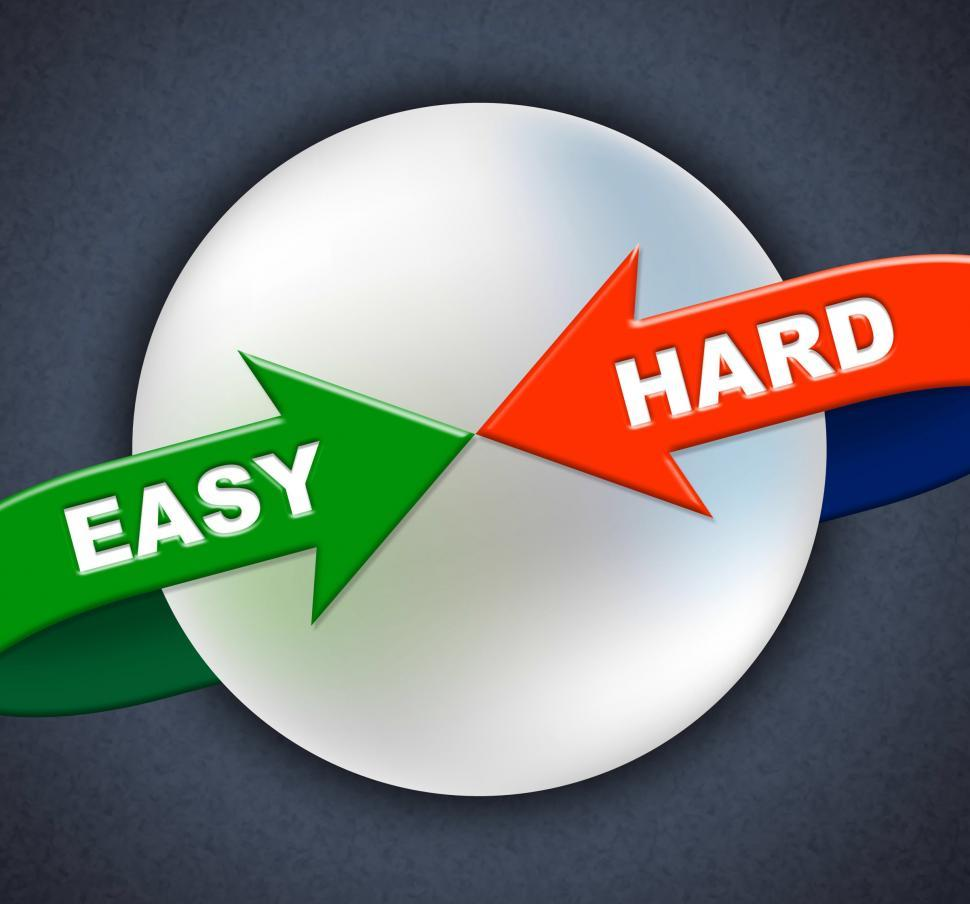 Download Free Stock HD Photo of Easy Hard Arrows Shows Difficult Situation And Ease Online
