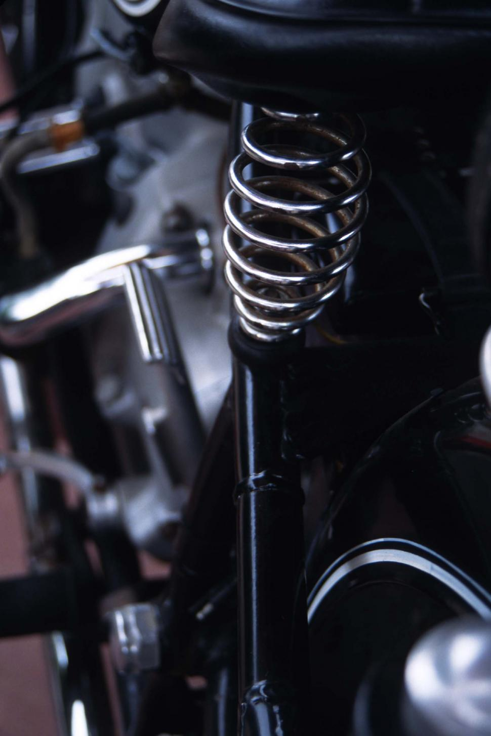 Download Free Stock HD Photo of Motorcycle seat spring Online
