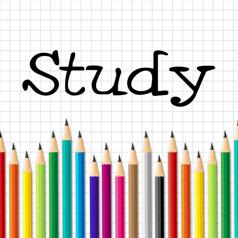 Download Free Stock HD Photo of Study Pencils Represents Learning Educating And Training Online