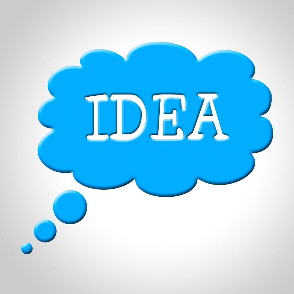 Download Free Stock HD Photo of Idea Thought Bubble Means Think About It And Thinking Online
