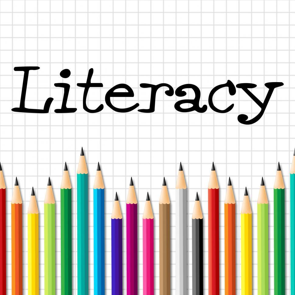 Download Free Stock HD Photo of Literacy Pencils Represents Train Proficiency And Develop Online