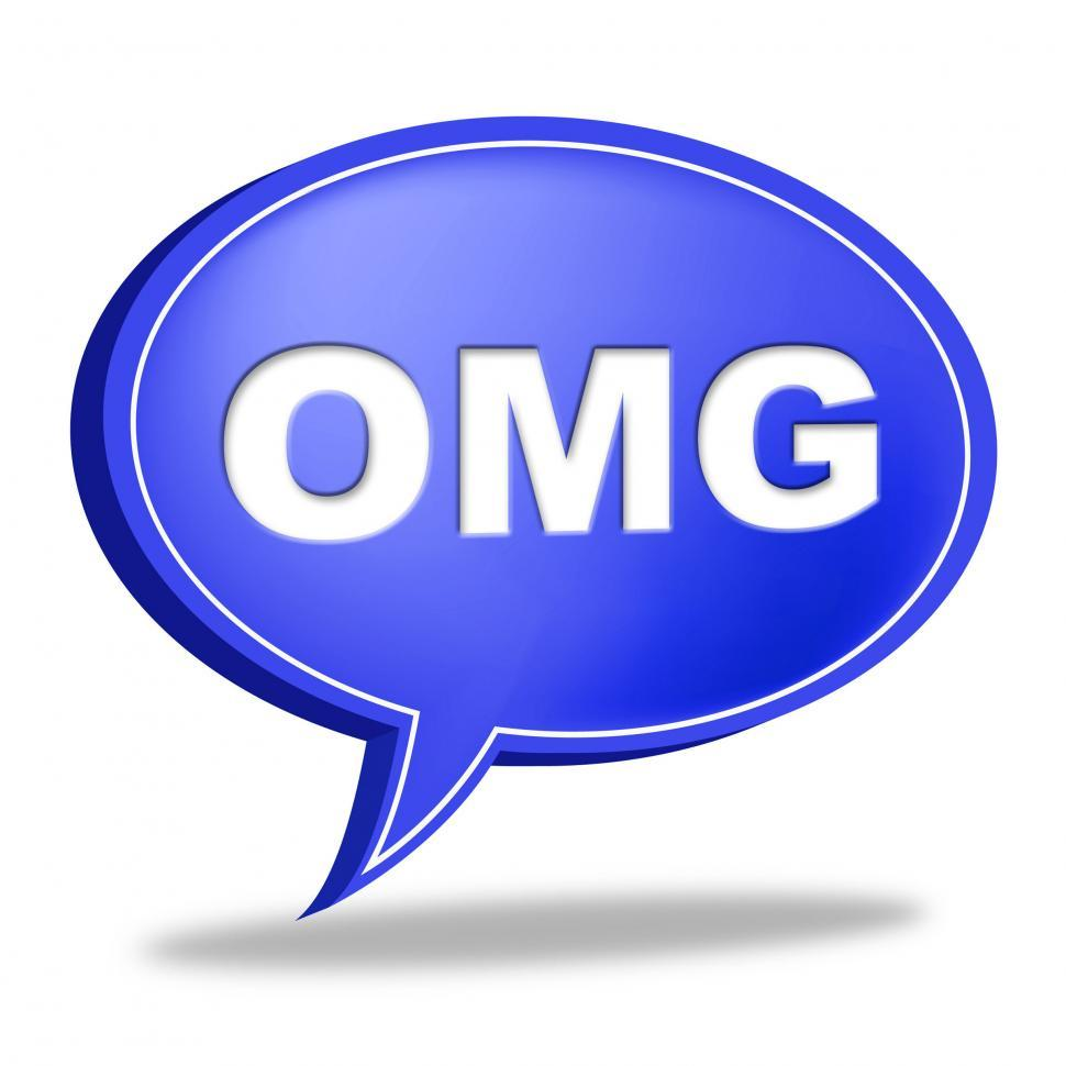 Download Free Stock HD Photo of Omg Speech Bubble Means Oh My God And Contact Online