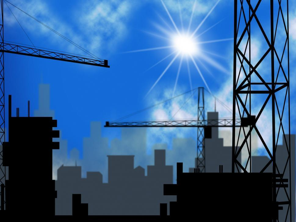 Download Free Stock HD Photo of Building Plot Indicates City Construction And Constructed Online