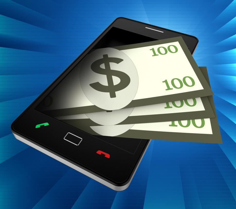 Download Free Stock HD Photo of Phone Dollars Indicates World Wide Web And Banking Online