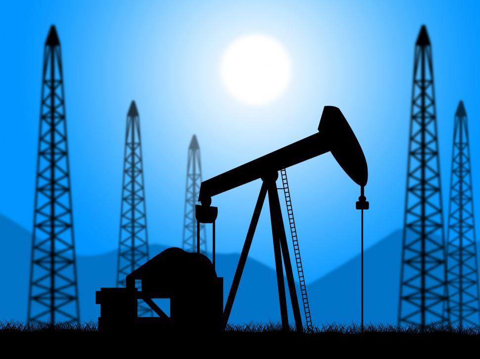 Download Free Stock HD Photo of Oil Wells Represents Power Source And Drill Online