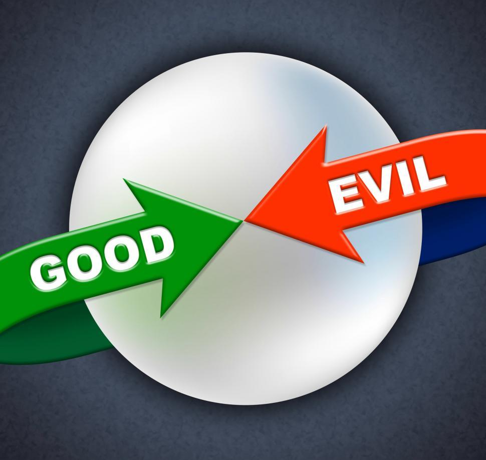 Download Free Stock HD Photo of Good Evil Arrows Indicates All Right And Awesome Online