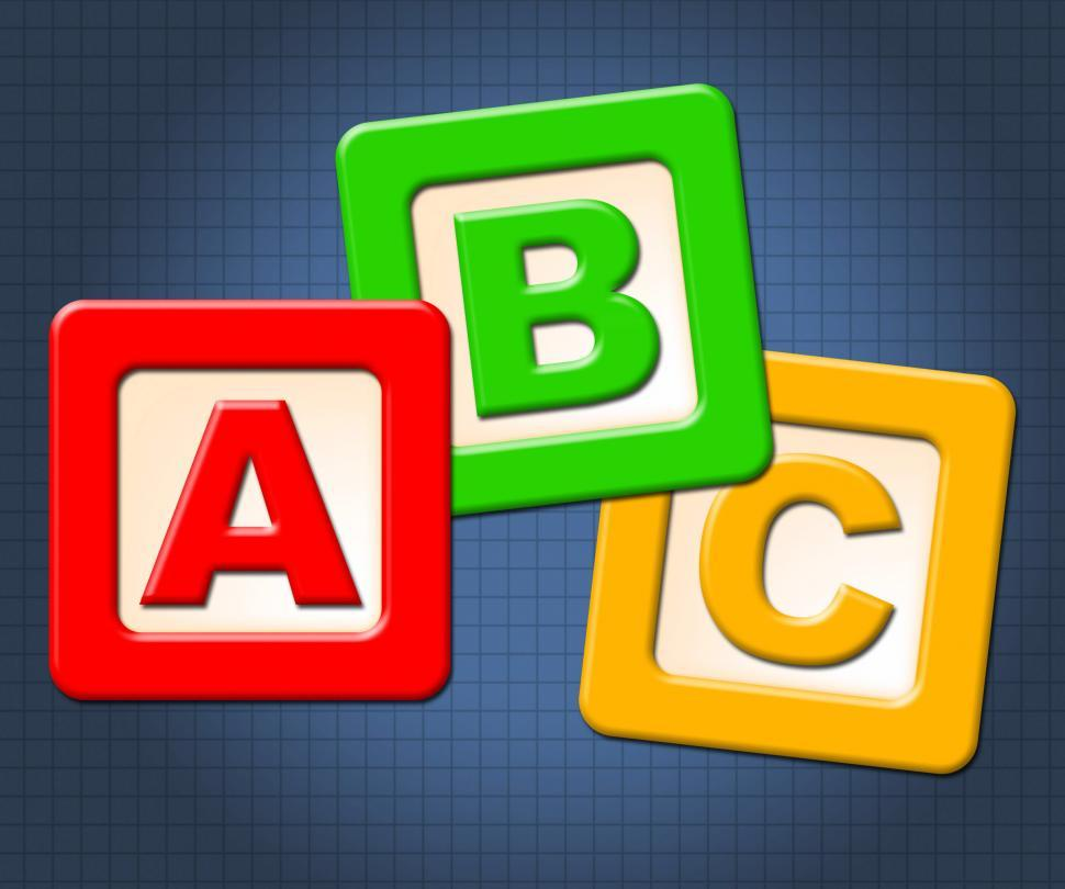 Download Free Stock HD Photo of Abc Kids Blocks Means Alphabet Letters And Alphabetical Online