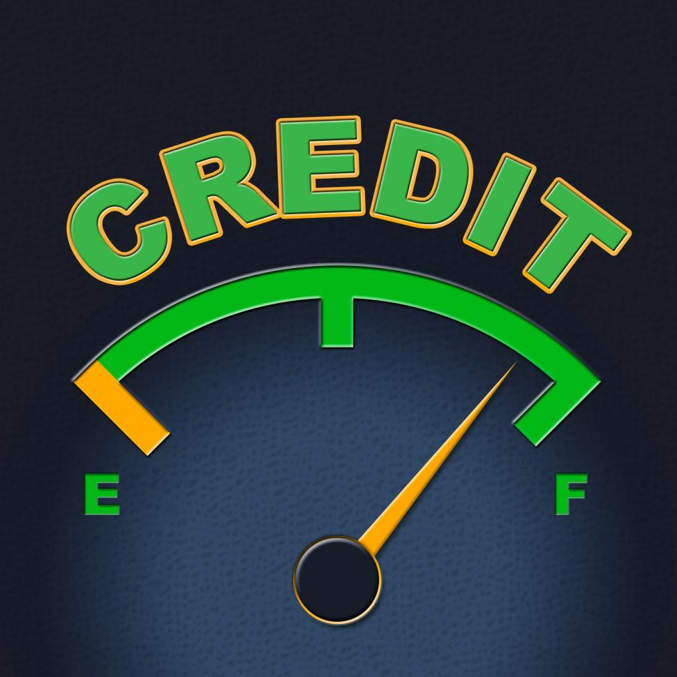 Download Free Stock HD Photo of Credit Gauge Represents Debit Card And Bankcard Online