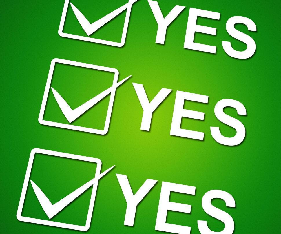 Download Free Stock HD Photo of Yes Ticks Indicates Correct Ok And Agreement Online