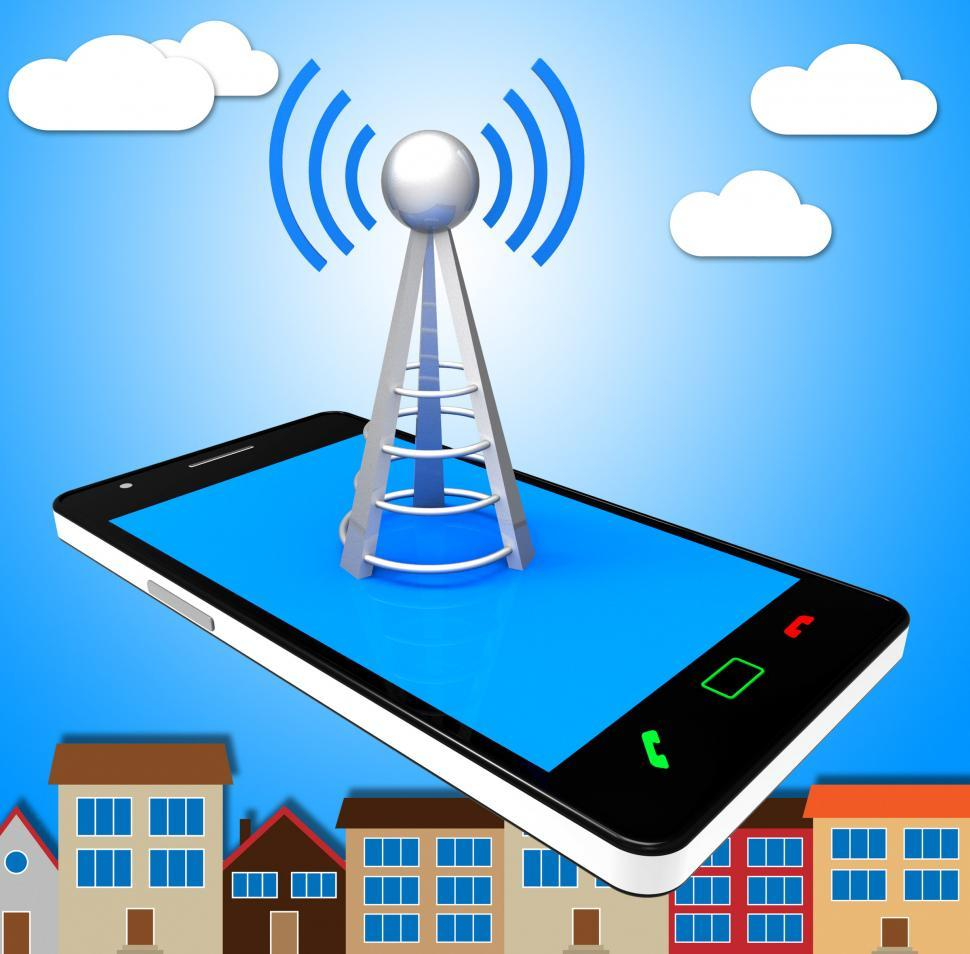 Download Free Stock HD Photo of Smartphone Wifi Means World Wide Web And Access Online