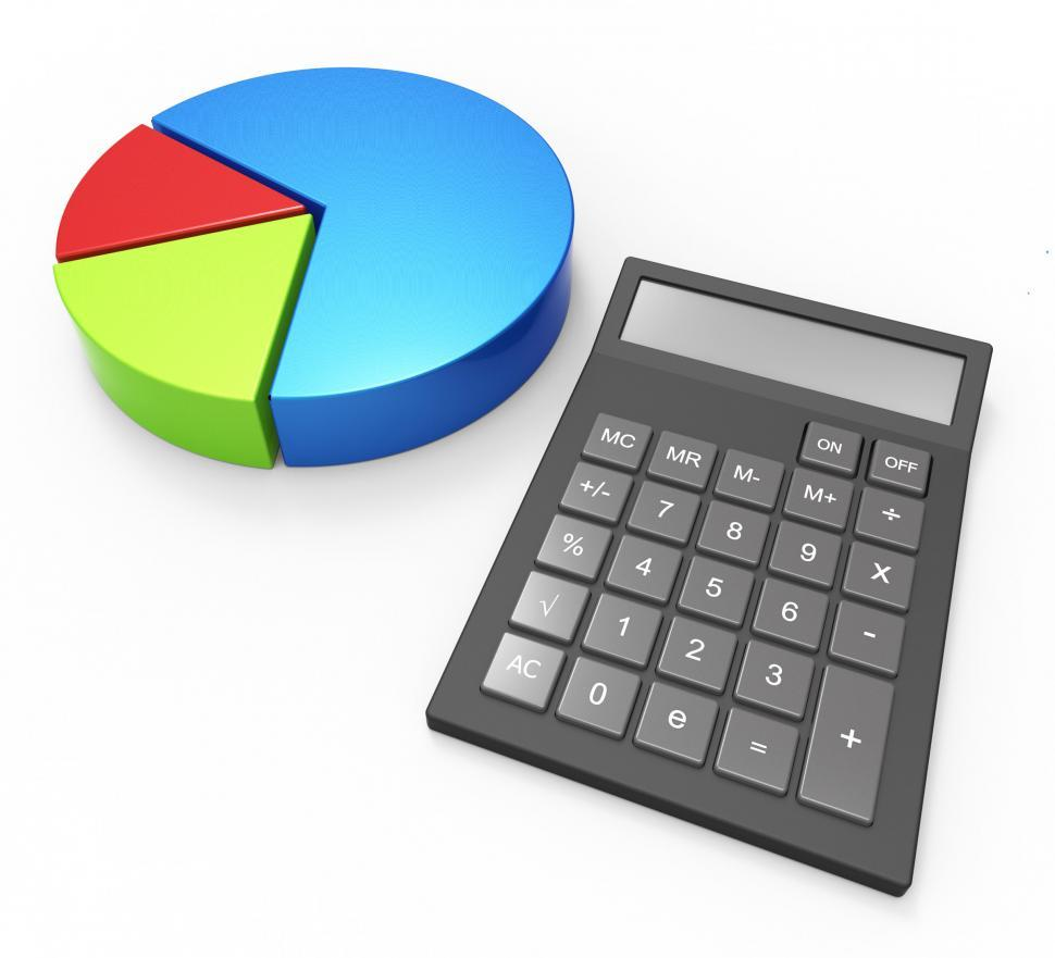 Download Free Stock HD Photo of Pie Chart Calculation Indicates Business Graph And Accounting Online