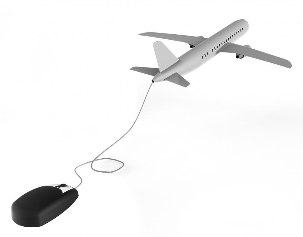 Download Free Stock HD Photo of Online Flights Represents World Wide Web And Aeroplane Online