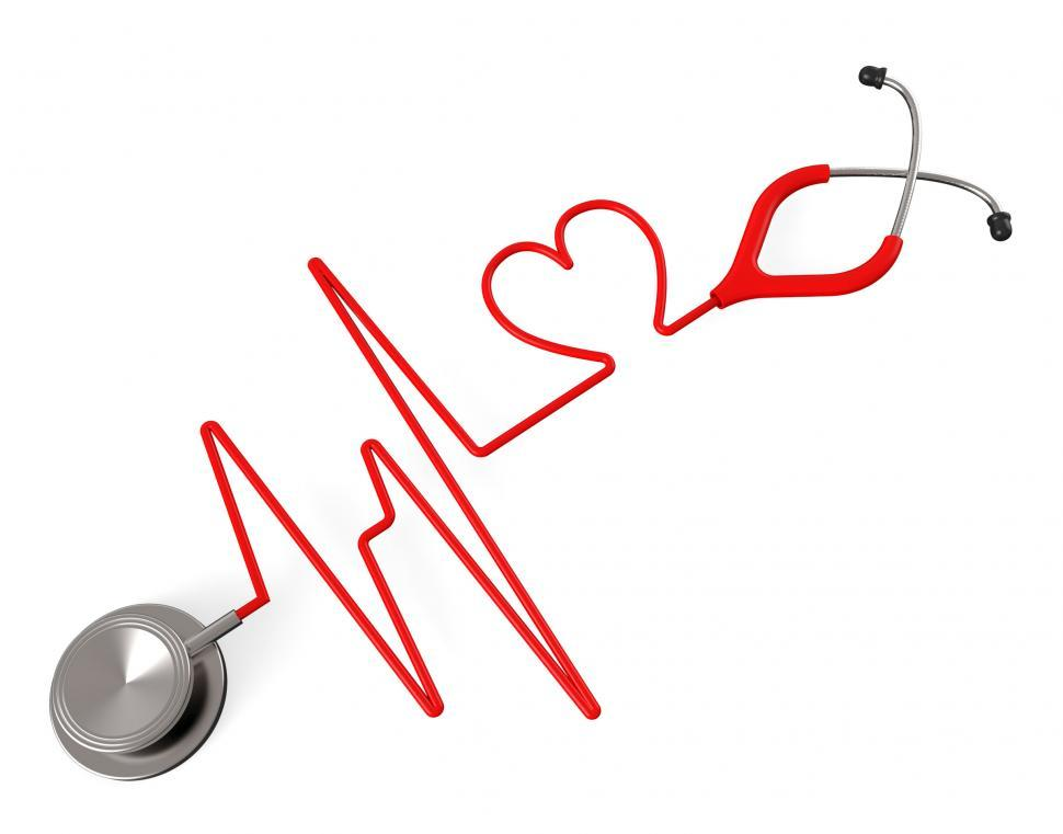 Download Free Stock HD Photo of Heart Stethoscope Indicates Health Check And Affection Online