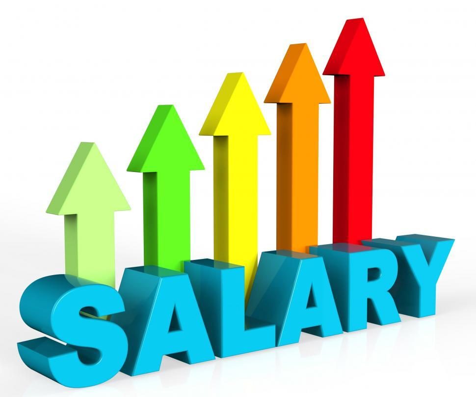 Download Free Stock HD Photo of Increase Salary Indicates Position Growing And Interview Online