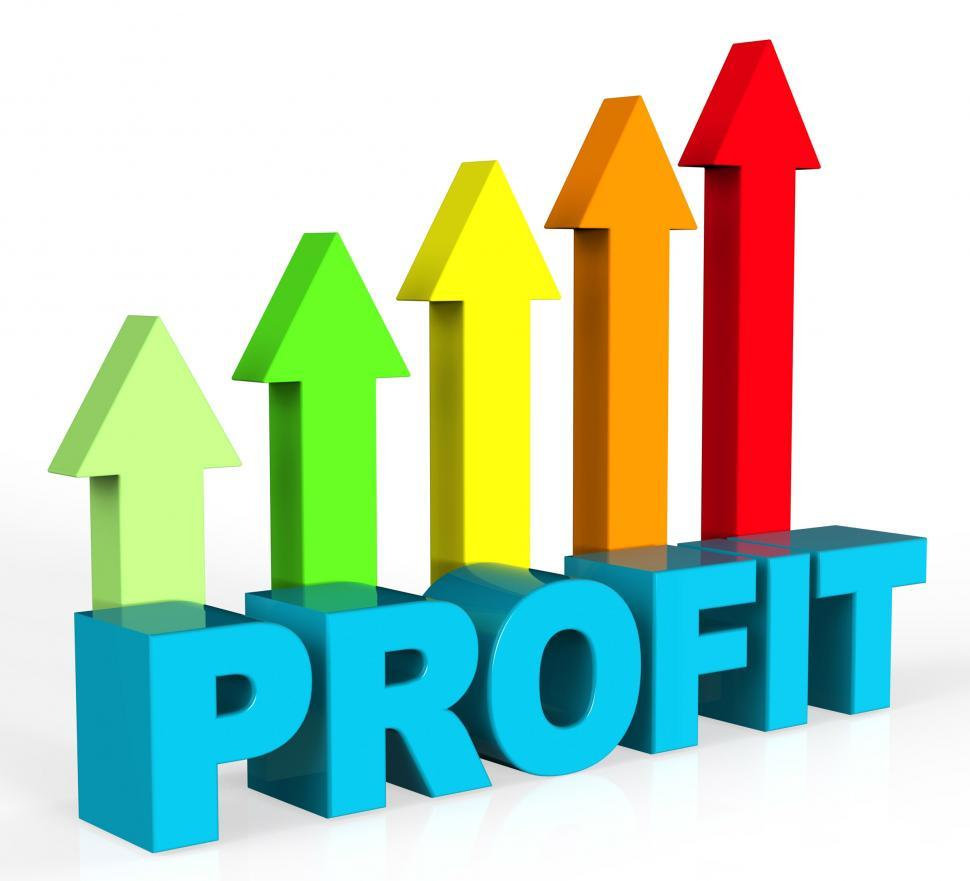 Download Free Stock HD Photo of Increase Profit Represents Rising Upward And Raise Online
