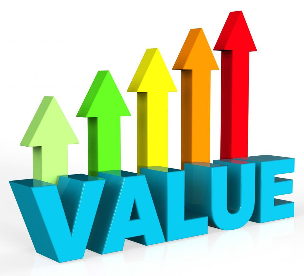 Download Free Stock HD Photo of Increase Value Means Up Worth And Valuable Online