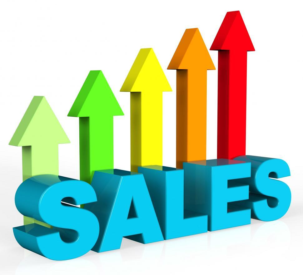Download Free Stock HD Photo of Increase Sales Shows Success Trading And Improvement Online