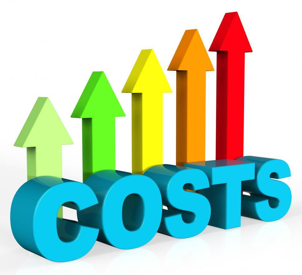 Download Free Stock HD Photo of Increase Costs Shows Finances Outlay And Rise Online