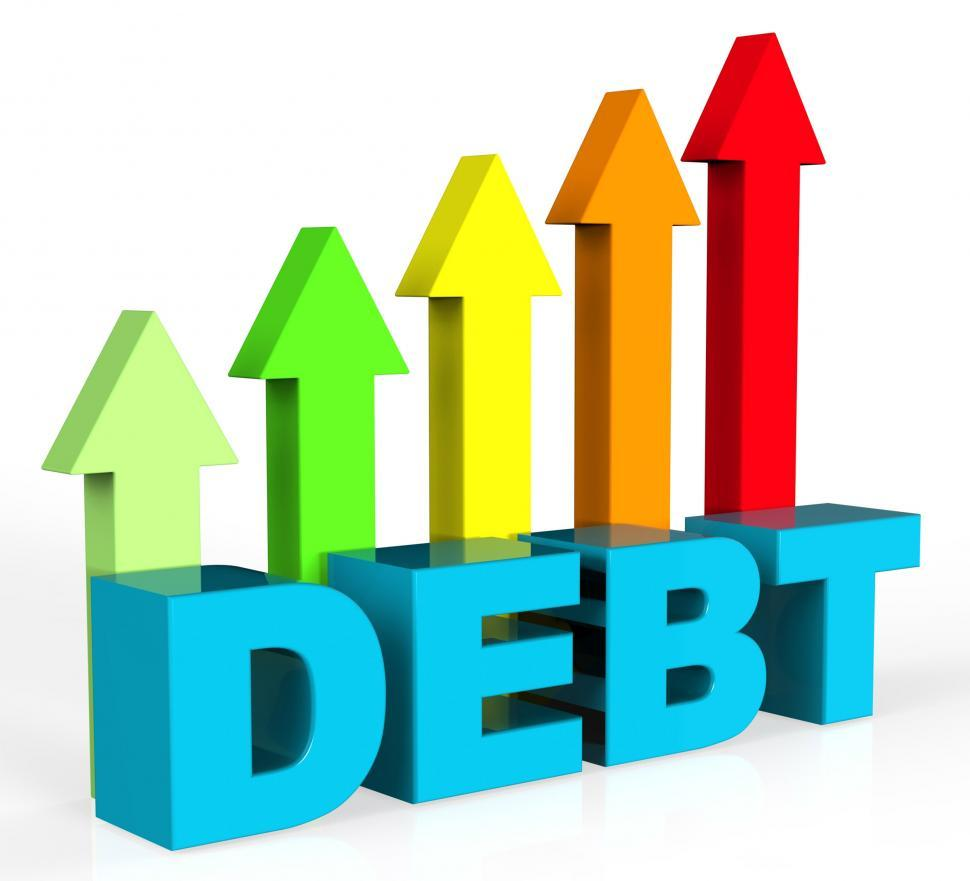 Download Free Stock HD Photo of Increase Debt Indicates Financial Obligation And Debts Online
