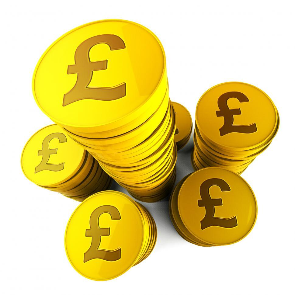 Download Free Stock HD Photo of Pound Savings Means Financial Increase And Currency Online
