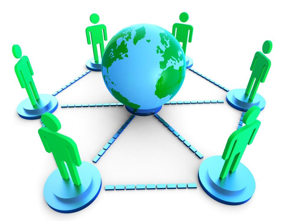 Download Free Stock HD Photo of Worldwide Communication Shows Computer Network And Chatting Online